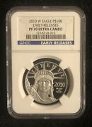 2010 W American Eagle Platinum 100 Ngc Pr70 Ultra Cameo Early Release
