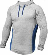Paizh Menand039s Workout Hoodie Dry Fit Lightweight Athletic Casual Long Sleeve Pullo