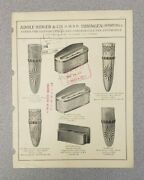 1931 Adolf Sidler And Co. Automotive Accessory Sales Folder German