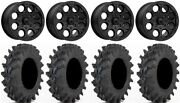 Msa Cannon Bdlk 14 Wheels Bk 32x9.5 Outback Max Tires Can-am Renegade Outlander