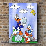 Original Mike Vice Donald Duck Bitcoin Cryptocurrency Trading Art Print