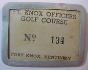 Vintage Employee Member Badge-ft. Knox Kentucky-officers Golf Course