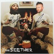 Seether Hand Signed Christmas Card Very Rare