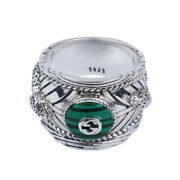 Real Solid 925 Sterling Silver Rings Jewelry Gem Lion Animal Fashion Size 5-11
