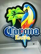 New Corona Extra Parrot Palm Tree 3d Led Neon Light Sign 17 Beer Bar Lamp