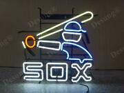 New Chicago White Sox 1980s Lamp Neon Light Sign 24x20 Beer Bar Real Glass