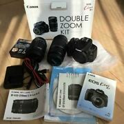 Canon Eos Kiss X7 Double Zoom Kit Efs Lens 18-55 Is Stm Digital Camera