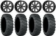 Msa Milled Flash 20 Wheels 33 Versa Cross V3 Tires Polaris Rzr Turbo S / Rs1