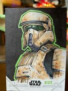 Star Wars Topps Artist Sketch Card 1/1 Scout Trooper By Eric Maell