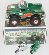 Hess Gasoline Vehicle - 2007 Monster Truck And 2 Motorcycles Mib Christmas Tested