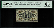 Fr-1256 0.10 Third Issue Fractional Currency - 10 Cent - Pmg 65 Epq