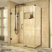 Unidoorplus 36 X 48 Shower Enclosure With Stationary Panel, 3/8 Clear Glass