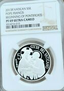 2013 Vatican Silver 5 Euro Pope Francis Ngc Pf 69 Ultra Cameo Scarce Top Pop