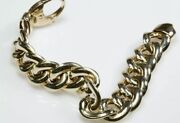 7 Andfrac12andrdquo Puffy Curb Link 14k Yellow Gold Bracelet Andfrac12andrdquo Wide Near 30 Grams Wholesale