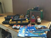 Lego City 7939 Cargo Train - 100 Complete W/ Tracks And Power Functions - No Box