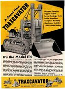1947 Trackson Co. Ad Traxcavator Model It4 And Caterpillar D4 Tractor Team Up