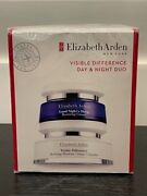 Sealed--elizabeth Arden Visible Difference Day And Night Duo Cream 3.4oz And 1.7oz