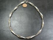 Vintage Sterling Silver Fancy Machinist Link Necklace Chain 18 Inch 2012