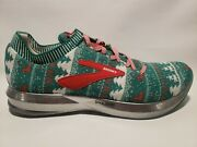 Brooks Levitate 2 Ugly Christmas Sweater Running Shoes Mens Size 10 D Green Red