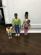 Fisher Price Loving Family Dollhouse African American Family Mom Dad Girl Baby G