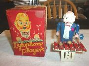 Old Vintage Original Mooerk Toys Xylophone Player Working Condition Japan 1950's