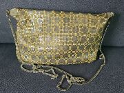 Vintage Gold And Silver Mesh Sparkly Evening Purse Shoulder Bag W/ Chain Strap