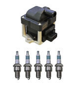 Denso Ignition Coil And 5 Iridium Power Spark Plugs .044 Kit For Vw Eurovan 2.5 L5