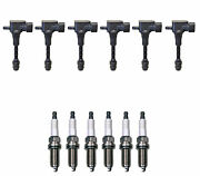 Denso 6 Ignition Coils And 6 Iridium Long Life Spark Plugs 0.044 Kit For Nissan V6