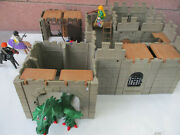 Geobra Playmobil Model Castle Medieval Soldiers Dragon Playset Childand039s Toy