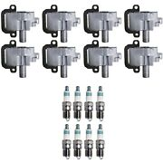 Denso 8 Ignition Coils And 8 Iridium Power Spark Plugs .044 Kit For Gm 5.7 7.4 8.1
