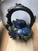 Door County Wi Cherry Handcrafted Pitcher/teapot Locally Made Rare 11x 9x6