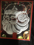Gorham Santa Claus Chip And Dip Tray Crystal Holiday Serving Platter New In Box