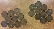 10 1937 And 10 1938 Canada Small Cent Vf-au Lot Of 20