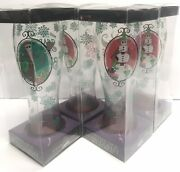 Nightmare Before Christmas Lot Of 4 Snowman Jack3 And Santa Jack1 Glasses New