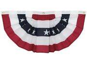 18x36 Cotton Decorative Pleated Fans With Stars Header And Grommets