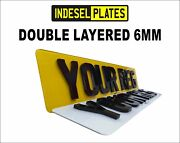 4d Laser Cut Show Custom Number Plates Pair Front And Rear Red Back