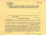 Orson Welles Signed Authentic Autographed 1945 Tax Document Beckett A34947