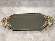 Rare Guc Jay Strongwater Luna Scalloped Mirror Vanity Tray With