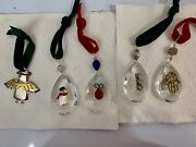 Crystal Prisms Christmas Ornaments-handcrafted With Sterling And Metal 5