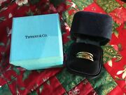 18k Hammered Circle Rings Paloma Picasso Ring Size 7 Blue Box