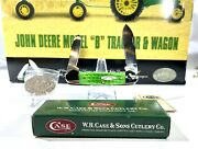 Wr Case And Sons Xx 2001 Ertl John Deere Model B Tractor W/ Wagon Knife And More