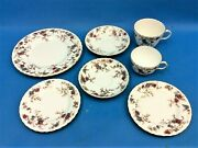 Vintage Lot Used Ancestral Minton Bone China England S-376 Plates Cups Saucers