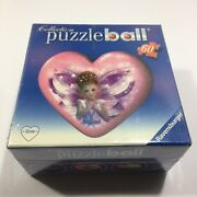 Sealed Ravensburger Heart Shaped Puzzle Ball Ornament 60 Pieces 2009 New