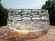 1950's Rare Meissen Germany Vintage Antique Crystal Glass Vase Candy Dish Marked