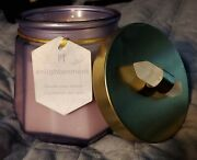 Pier One P1 13.3 Oz Enlightenment Candle, Discontinued, 2 Wick, W/crystal On Lid