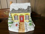 Colonial Candle Of Cape Cod Colonial Village Christmas 3/4 Cape Lighted House