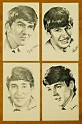 Super Rare 1960and039s Beatles Postcards Lot Of 4