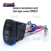 7 Pin Laser Led Blue Rocker Switch Winch In/out For Can-am Maverick X3 Max Turbo
