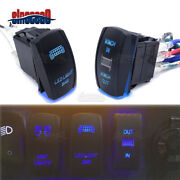 Laser Blue Winch In/out And Led Light Bar Rocker Switch For Can-am Maverick X3 Max