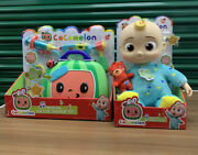 New Cocomelon Singing Bedtime Jj Doll Plush And Doctor Checkup Case Set Bundle